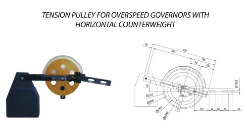 Tention Pulley for Overspeed Governor with Horizontal Counterweight